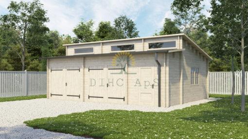 Dobbelt garage Favori 5.7 m x 7.7 m; (43.7 m²)