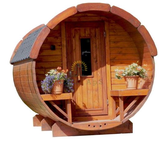 Sauna tønde 2.5 m Ø 1.9 m
