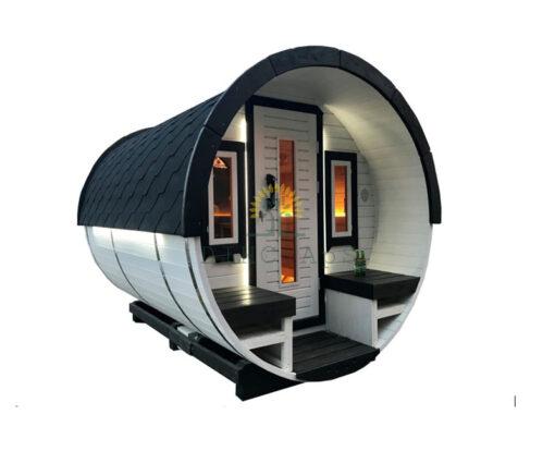 Sauna tønde 3 m Ø 1.9 m