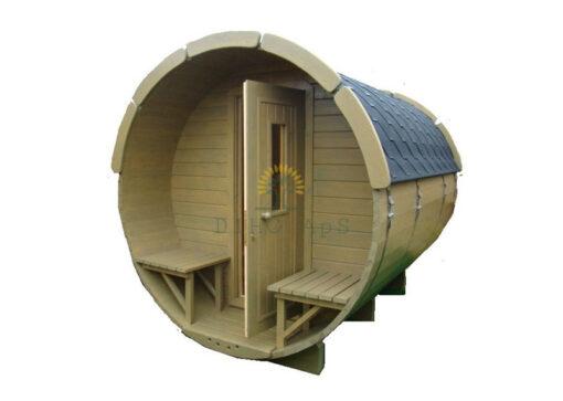 Sauna tønde 3.5 m Ø 1.9 m