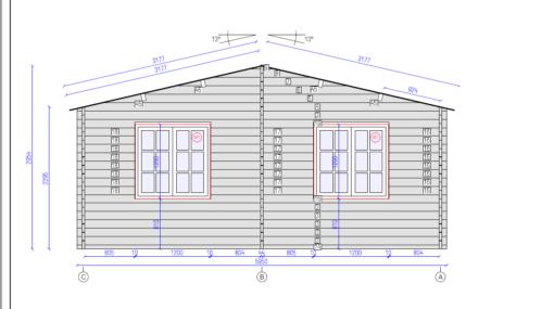 Dobbelt carport - Tivoli med skur (5,95 m x 7.5m), 44mm