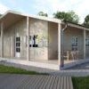 Bjælkehus Tulipa A (72 m²)