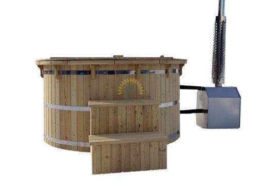 Lærk træ vildmarksbad - Udvendig ovn