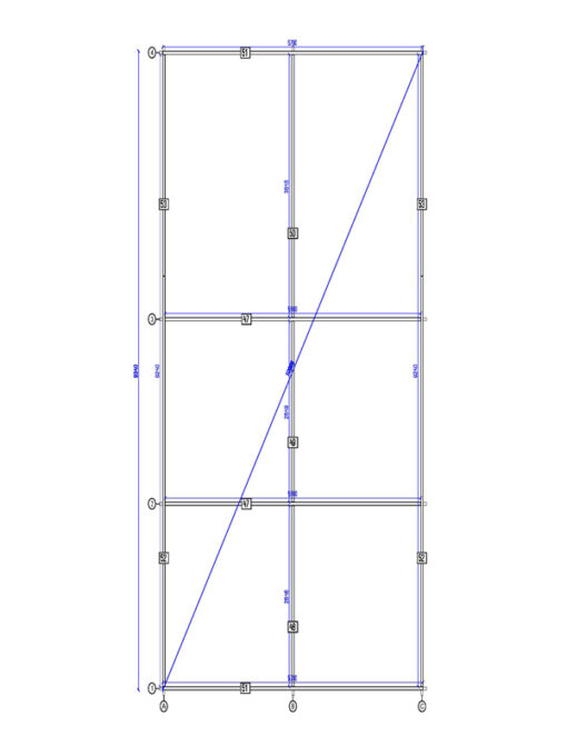 Dobbelt carport fladt tag-Tivoli med skur (5,95 m x 7.5m), 44mm