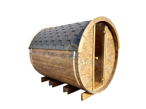 Sauna tønde 2.4 m Ø 2.27 m