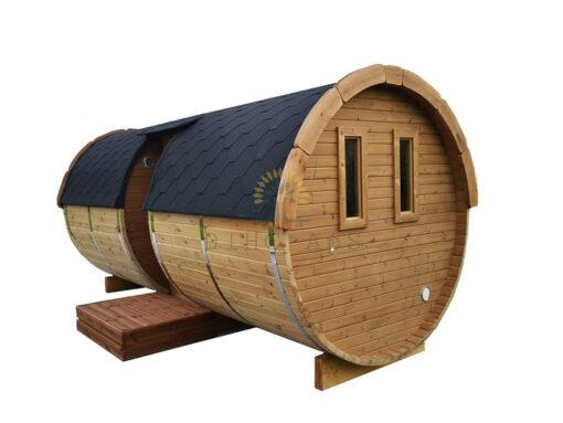 Sauna tønde 5.9 m/Ø 2.27 ( med sideindgang )