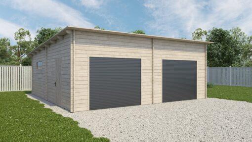 Garage med to porte Henk (45 m²)
